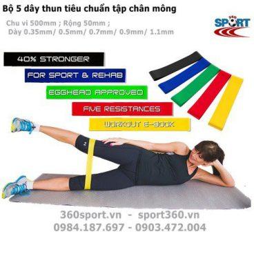 Bộ 5 dây mini band tập mông chân