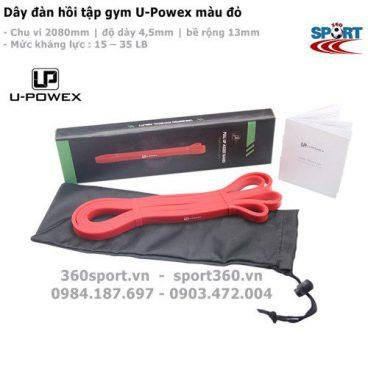 Dây đàn hồi tập gym U-Powex màu đ