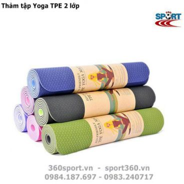 Thảm tập Yoga TPE 2 lớp