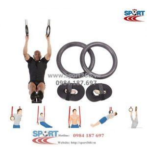 Vòng xà gymnastic rings có khóa điều chỉnh