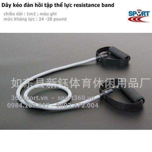 dây đàn hồi resistance band màu ghi