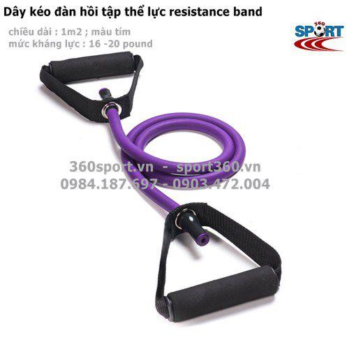 dây đàn hồi resistance band màu tím
