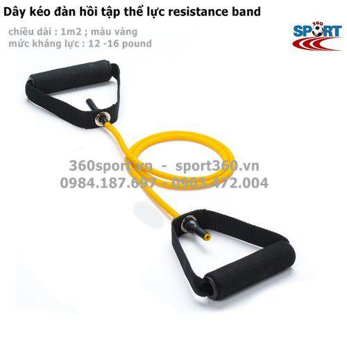 dây đàn hồi resistance band màu vàng