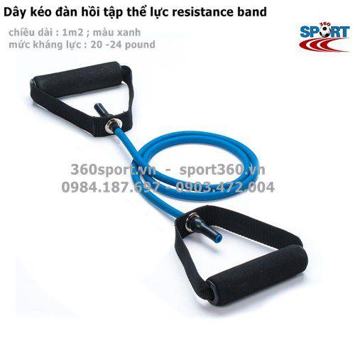 dây đàn hồi resistance band màu xanh