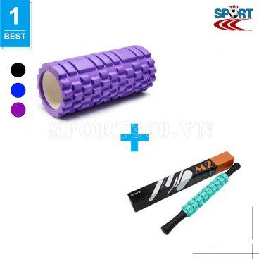 [COMBO-20] Ống lăn matxa yoga + Gậy lăn massage phục hồi cơ bắp